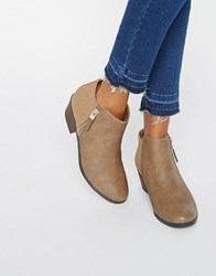 Call It Spring Gunson Zip Ankle Boots Taupe Beige