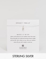Dogeared Sterling Silver Sweet Treat Ice Cream Cone Make A Wish Necklace Silver Mint