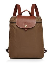 Longchamp Le Pliage Backpack Khaki Gold