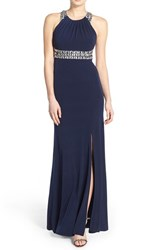 Women's Sequin Hearts 'Mary' Embellished Gown Navy