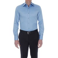 Bruce Field Men's Shirt Slim Fit Plain Two Button High Collar