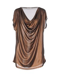 Supertrash Topwear T Shirts Women Copper