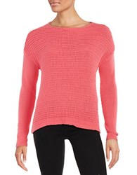 Lord And Taylor Loose Knit Sweater Pretty Pink