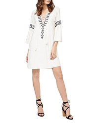 Sanctuary Lucie Embroidered Lace Up Peasant Dress Milk