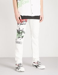Anglomania Printed Regular Fit Straight Jeans Meaningless Print