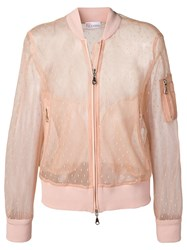 Red Valentino Tulle Bomber Jacket Neutrals