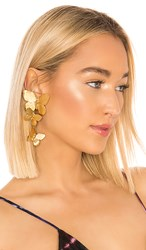 Jennifer Behr Alessandra Clip On Earrings In Metallic Gold.