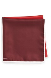 Nordstrom Men's Men's Shop Silk Pocket Square Red
