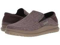 Crocs Santa Cruz Playa Slip On Espresso Walnut Men's Slip On Shoes Brown