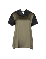 Hache Blouses Military Green