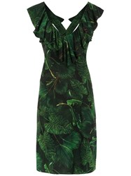 Isolda Printed Maite Dress Green
