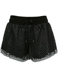 Andrea Bogosian Leather Shorts Black