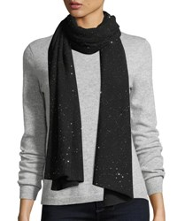Sofia Cashmere Reversible Sequin Shawl Black