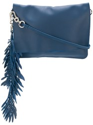 P.A.R.O.S.H. Coral Clutch Bag Blue