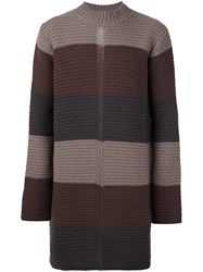 Rick Owens Oversized Jumper Brown