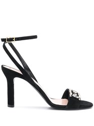 Escada Embellished Sandals Black