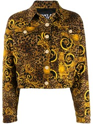 Versace Jeans Couture Leopard Print Jacket Yellow