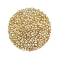 Chilewich Pressed Pebble Round Placemat Gold