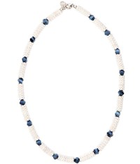 Cc Navy Bead And Jacks Necklace