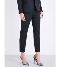 The Kooples Tailored Fit Embellished Stretch Wool Trousers Bla01