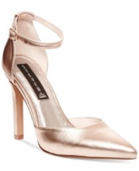 Steven By Steve Madden Adell Pointed Toe Pumps Women's Shoes Gold Metallic