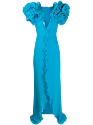 Alessandra Rich Oversized Ruffle Maxi Dress 60