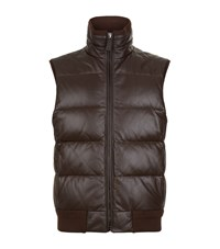 Ralph Lauren Burwood Leather Gilet Male Brown