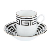 Richard Ginori 1735 Labirinto Nero Coffee Cup And Saucer