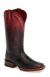 Ariat Women's Ombre Square Toe Western Boot Red Leather