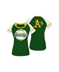5Th And Ocean Women's Oakland Athletics Athletic Baseball T Shirt Darkgreen