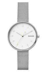 Skagen Women's Signatur Mesh Strap Watch 36Mm Silver White Silver