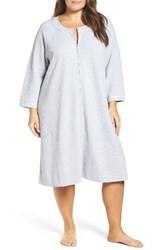 Carole Hochman Plus Size Women's Designs Zip Front Waffle Knit Robe
