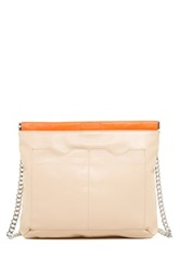 L.A.M.B. Glenda Convertible Leather Shoulder Bag Beige