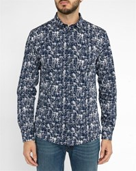 Minimum Navy Feroz Pr Print Shirt Blue