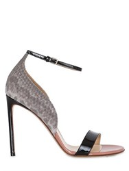 Francesco Russo 105Mm Patent And Karung Leather Sandals