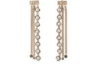 Koche Imitation Pearl Embellished Drop Earrings White