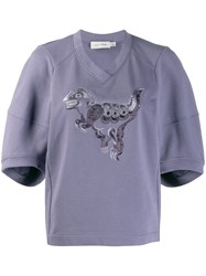 Coach Rexy Embroidered Jumper Purple