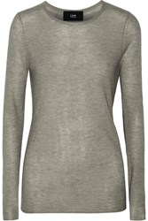 Line Barton Ribbed Modal And Cashmere Blend Sweater Gray