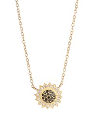 Small Black And White Diamond Sunflower Necklace Jamie Wolf Pink