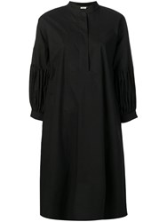 Odeeh Pleated Sleeve Dress Black