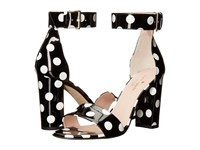 Kate Spade Idabelle Too Black White Polka Dot Patent Women's Shoes
