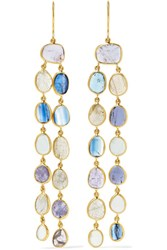 Pippa Small 18 Karat Gold Multi Stone Earrings