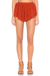 Indah Bee Pleat Short Orange