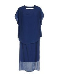 Malloni Knee Length Dresses Blue