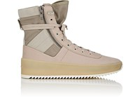 Fear Of God Jungle Nylon And Leather Sneakers Gray