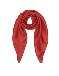 Forzieri Pure Silk Square Scarf Red