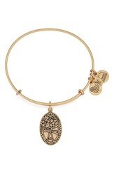 Women's Alex And Ani 'I Love You Friend' Expandable Wire Bangle Gold
