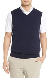 Cutter And Buck Men's Big Tall Lakemont V Neck Sweater Vest Liberty Navy