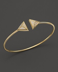 Bloomingdale's Diamond Pyramid Flex Bangle In 14K Yellow Gold .25 Ct. T.W. White Gold