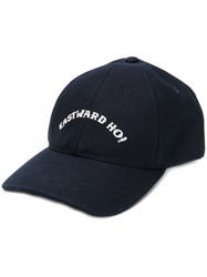 A.P.C. Embroidered Cap Blue